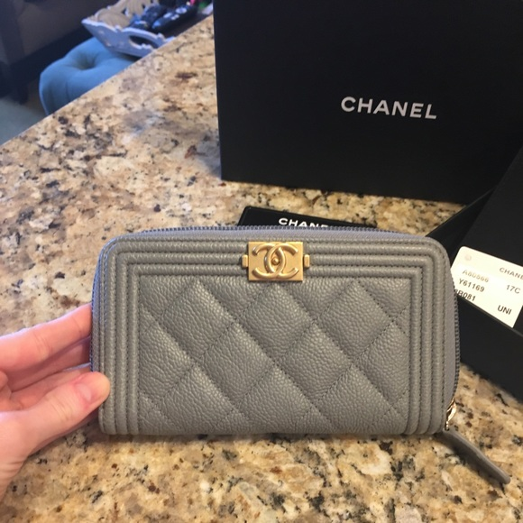 b51e76ab0c04 CHANEL Bags | 2017 Small Boy Zip Wallet | Poshmark